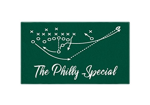 Personalized Corner Philadelphia Eagles Hand Towel 28x16 - Philly Special Super Bowl Champs - Football Mens Apparel Golf Bag Accessory -