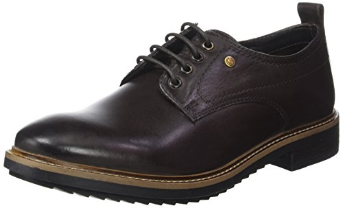 Derby Stringate Cocoa Scarpe Marron London Burnished Uomo Base Elba Rqg1InS