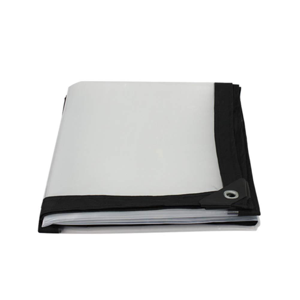 3x4M BU Tarpaulin- Heavy Duty Tarpaulin Waterproof Windproof Sunscreen White Transparent With Perforated Tarp Floor Covering Shed Cloth Rainproof 120 G   M2 (Size   3x4M)