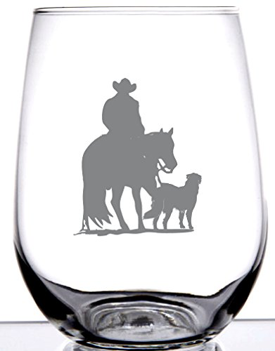 cowboy wine glasses - 9