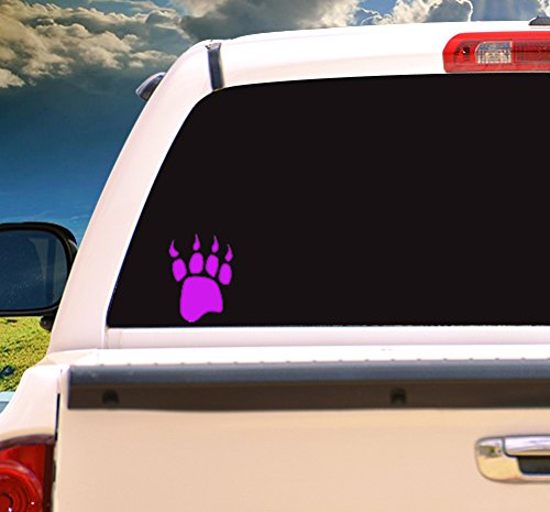 Hiking Bumper Sticker WickedGoodz Pink Bear Track Vinyl Window Decal Transfer Perfect Outdoor Lover Gift