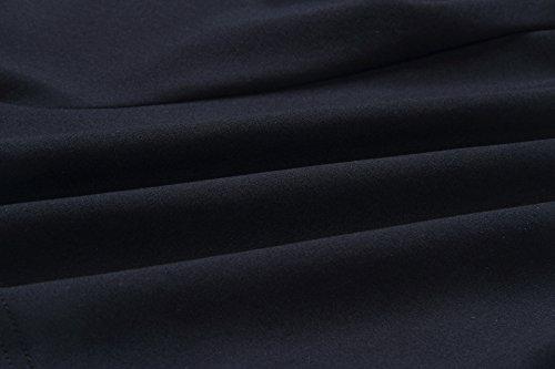Backless Pantaloncini Pezzi Casual Volant Scollo Slim Ragazze Donna Estivi Shorts Top Smanicato Eleganti Crop V Giovane Canotte Moda Nero Due con f8TZIBq