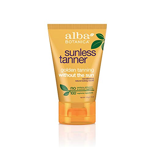 Alba Botanica Sunless Tanner Lotion, 4 oz. (Best Smelling Gradual Self Tanner)
