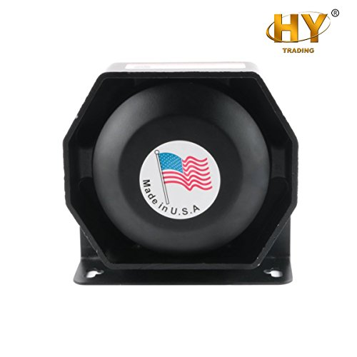 HY Electric 12V 200W Metal Horn Kit with Bracket for Cars Trucks SUVs RVs Vans Motorcycles Off road Boats PA System Horn Emergency Warning Siren (Driver Module Siren)