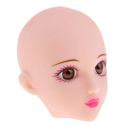 1122c478c19 Buy Homyl Soft Female Doll Head Sculpt with Black Eyes for 1/6 BJD Doll  Parts Accessory Online at Low Prices in India - Amazon.in