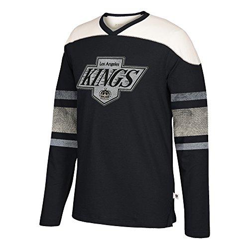 adidas NHL Los Angeles Kings Mens Ccm L/S Applique Crewccm L/S Applique Crew, Black, 4X-Large