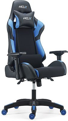 Enjoyable Staples Helix Gaming Chair With Cooling Technology Blue Machost Co Dining Chair Design Ideas Machostcouk