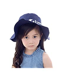 Cotton Panama Hat Girls Babies Children Ribbon Summer Sun Hats