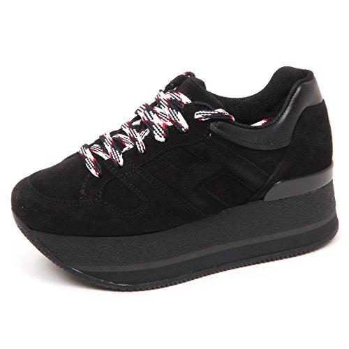 Sneaker Woman Suede Scarpe H328 E4506 H Grande Shoe Nero Nero Donna Hogan AW5gf5