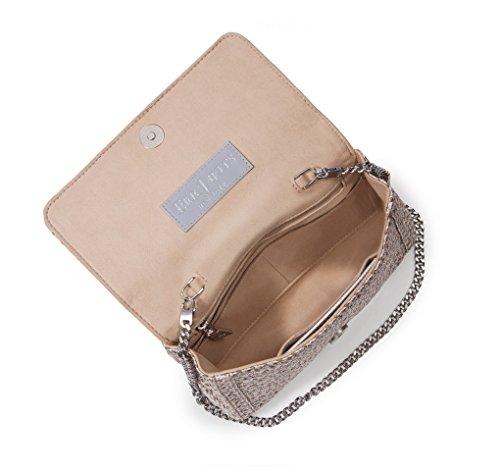 Eric Javits Luxury Fashion Designer Women's Handbag - Devi Clutch - Taupe Glow by Eric Javits (Image #1)