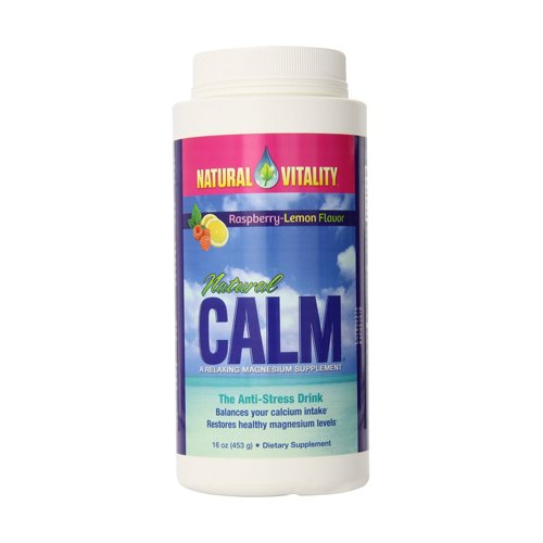 Natural Vitality Natural Calm Diet Supplement  Raspberry Lemon  16 Ounce
