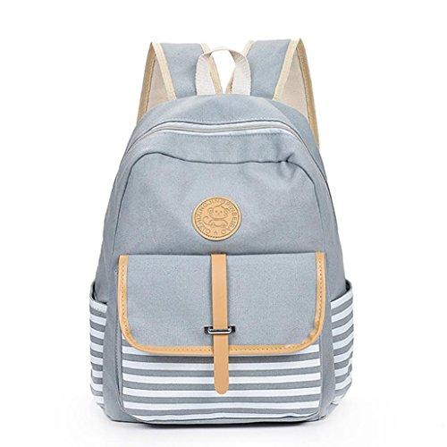 Backpack,Ba Zha  2018 Women Girls Canvas Preppy Shoulder Bookbags School Travel Backpack Bag Satchel Bag Fashion Bag Clutch Bag Ladies Bag Designer Bags Coin Purse Handbag Crossbody Bags Gray