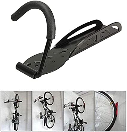 Wall Mount Hook Hanger Bike Bicycle Cycling Rack Storage Garage Steel Holder