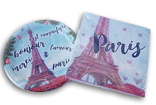 Retail Paris Themed Party Supply Kit - Napkins