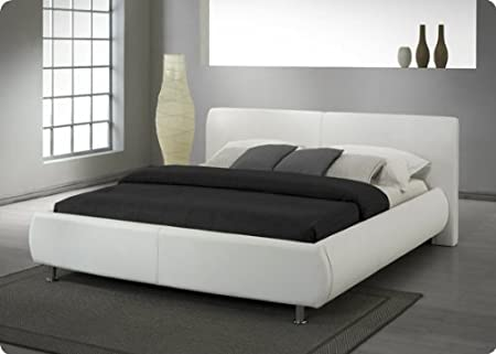 Designer Bed Luxurious And Sophisticated White U0026 Black Stunning Headboard  (White, King Size)