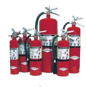 Multi Purpose Fire Extinguisher - Amerex B402, 5lb ABC Dry Chemical Class A B C Fire Extinguisher, with Wall Bracket