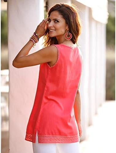 VENCA Blusa Top guipur en Escote Mujer - 025435: Amazon.es ...