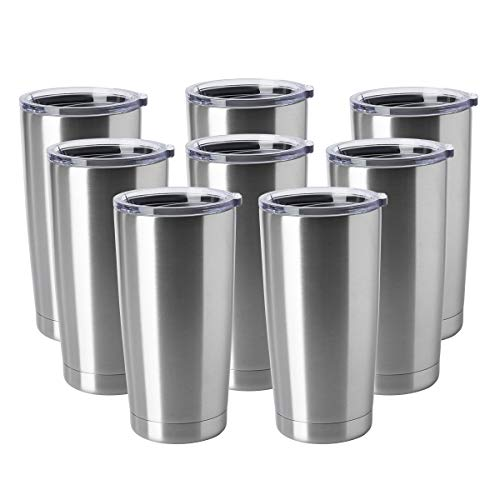 HASLE OUTFITTERS 20oz Tumblers Stainless Steel Mugs with Lid Double Wall Vacuum Insulated Coffee Cups for Cold & Hot Drinks