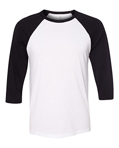 Cap Sleeve Raglan Type (Purplebox Canvas Mens Three-Quarter Sleeve Baseball Raglan T Shirt)