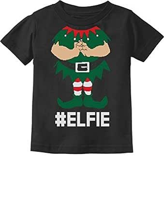 Tstars - Elf Suit Funny Elfie Christmas Toddler Kids T-Shirt 2T Black