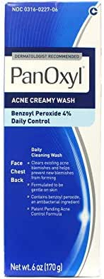 Facial Cleanser: PanOxyl Acne Creamy Wash