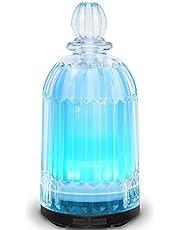 Diffusore a Base Di Olio Di Vetro Latitop Diffusore Di Aromaterapia Ad Ultrasuoni Per Oli Essenziali Con Luci a Led a 7 Colori, Funzione Di Spegnimento Automatico