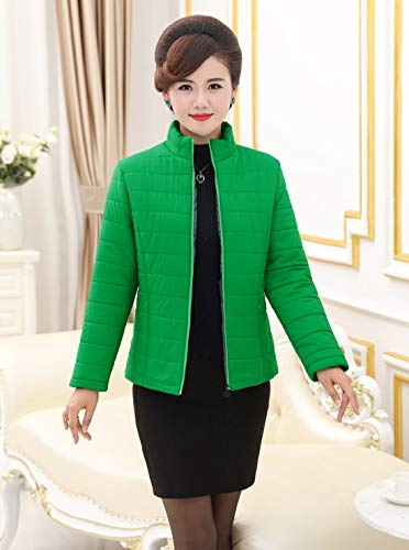 Cotton Coat Jacket Short Women Stand Green Slim Autumn Ladies Winter Overcoat Outwear Fit Collar wqt5EdEf