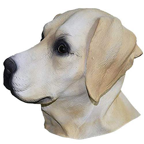 Latex Animal Dog Head Mask, Party Costumes Fancy Dress Up Carnival Mask Full Head Animal Popular Cosplay (Labrador Dog) ()