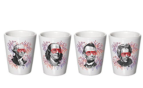 4th of July Shot Glasses - Cups - 1776 - President Shot Glasses - Decor  - July 4th home decoration
