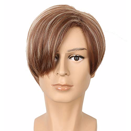 Yuehong Short Straight Brown Hair Wigs Heat