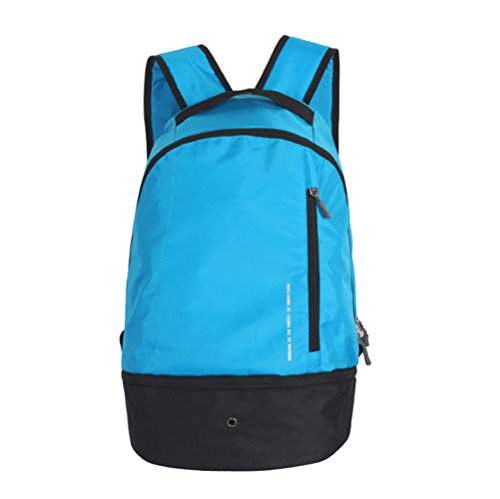 Sports Athletic Backpack Shoulder bag for Team Soccer Ball Basketball Volleyball Football Baseball Blue (Team Soccer Backpack)