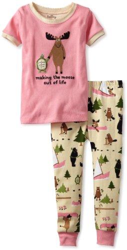 Hatley Little Girls' Polo Pajama Set
