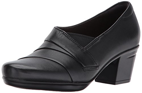 Clarks Women's Emslie Warbler Pump,Black,12 M US (Womens Size 12 Clarks Shoes)