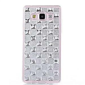 GX Teléfono Móvil Samsung - Cobertor Posterior - Diseño Especial/Apariencia de Diamante - para Samsung Galaxia A5 ( Multi-color , TPU ) , Blue