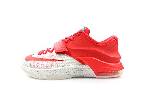 Nike KD7 Men's Basketball Shoe (13, Bright Crimson/Ivory)