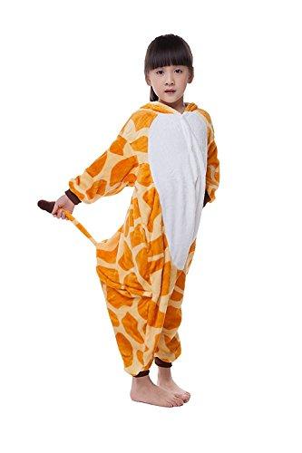 [Children's Pajamas Animal Costume Onesie Kids Sleeping Wear homewear Cosplay Giraffe M] (Hippo Costume 5t)