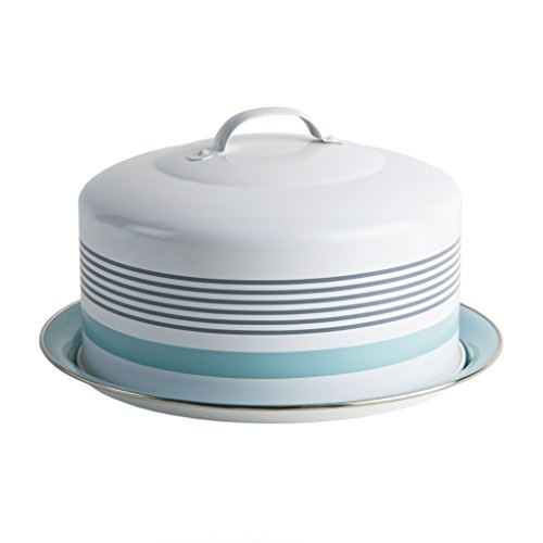 Round Cake Tin (Jamie Oliver Baking Cake Tin with Cover Lid and Handle, Round, Stainless Steel)