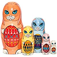 Easter Bunnies Nesting dolls - Nesting dolls for kids - Easter gift - Russian nesting doll - handmade - gift idea for kids - Stacking wooden toy - Montessori developing skills - Baby nursery decor