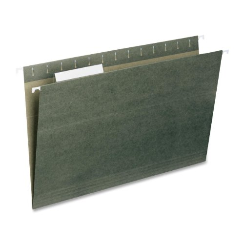 smead-hanging-file-folder-with-tab-1-3-cut-adjustable-tab-legal-size-standard-green-25-per-box-64135