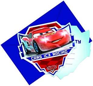 Coolmp Lote De 12 Tarjetas De Invitación Con Sobres De Cars