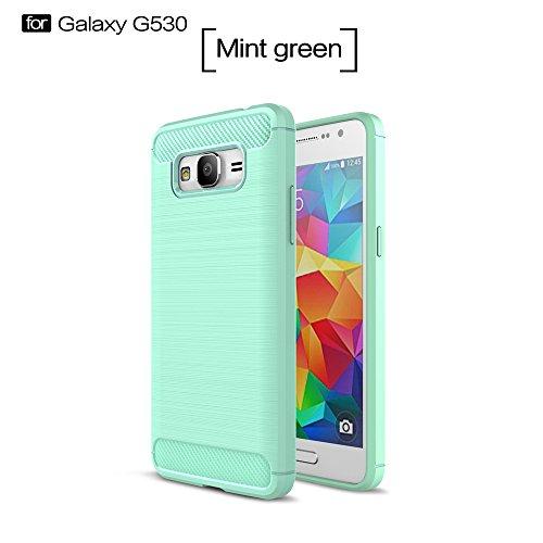 XHD-Casos de teléfonos móviles TPU Material Ultra Light Armor ShockProof cepilló la caja del apretón del silicón para Samsung Galaxy Grand Prime G530 ( Color : Green ) Green