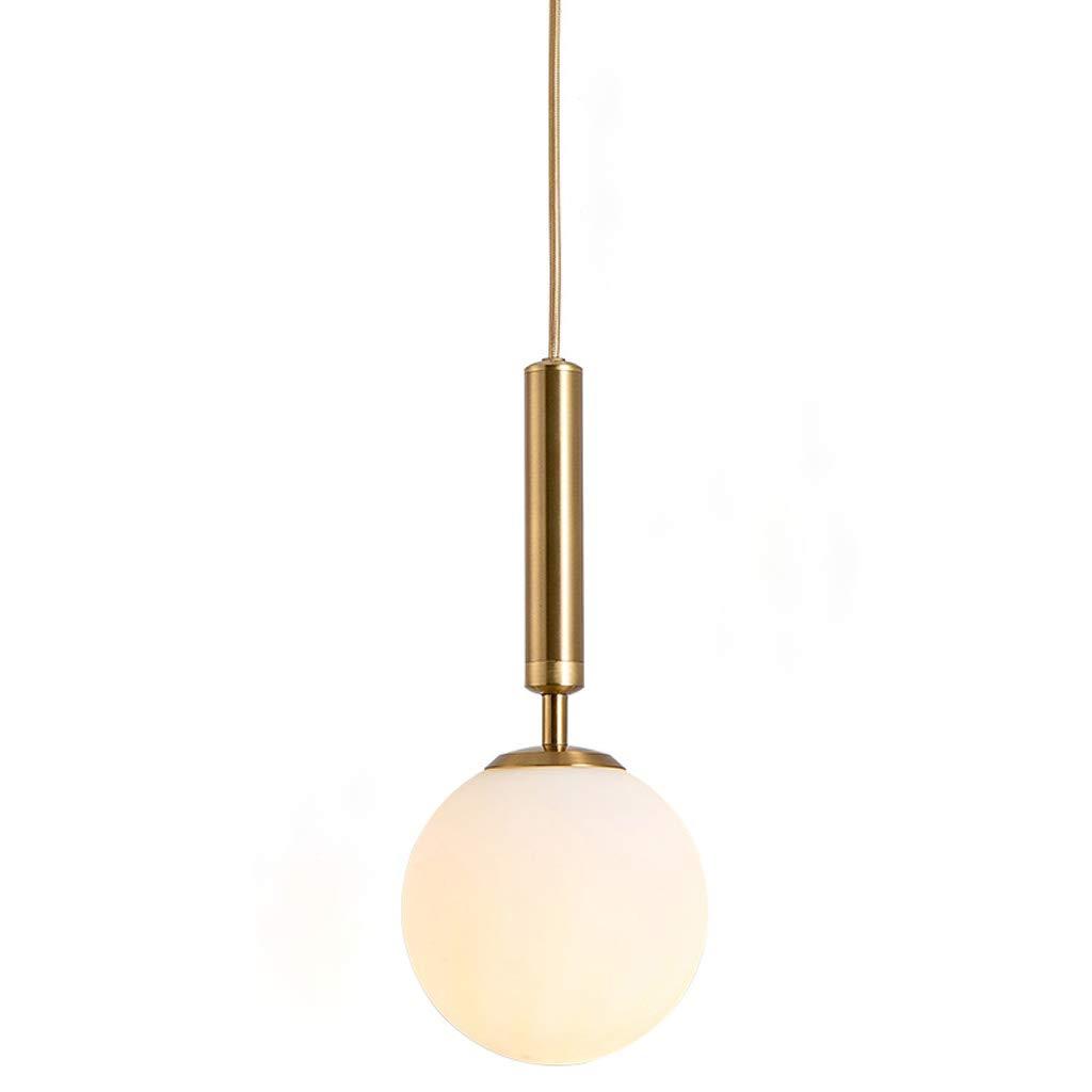 Europäischen Stil Runde Glas Einzigen Kopf Kronleuchter, Kreative Persönlichkeit Kronleuchter Home Bar Restaurant Kronleuchter LED Gold Schwarz (Farbe   Weiß)
