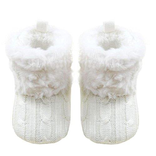 Longra Baby Schnee Weiche Krippe Schuhe Kleinkind Stiefel Weiß