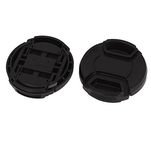 Plastic Front Snap Digital Camera Lens Caps 43mm Dia 2Pcs Black (Snap 43 Mm Plastic)
