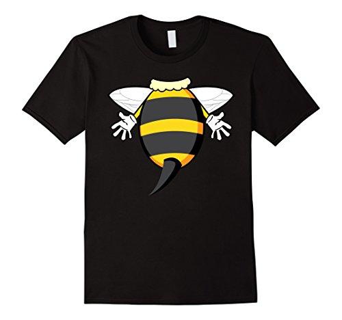Man In Bee Costume (Mens Funny Honeybee Costume Shirt - Hilarious Bee Halloween Gift Large Black)