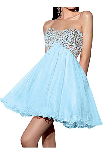 Toskana novia de un hombro para mujer Mode Noche de gasa Vestidos Largo novia Ball Prom Fiesta Ropa Azul