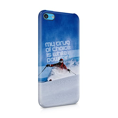 Telemark Touring Skis - Skiing Slide Downhill Telemark Style My Drug Of Choice Motivation Quote Plastic Phone Snap On Back Case Cover Shell For iPhone 5c