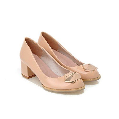 Balamasa Meisjes Slip-on Lage Hakken Massief Zacht Materiaal Pumps-schoenen Abrikoos