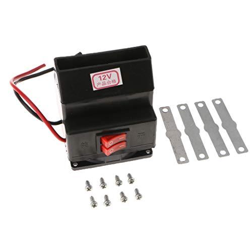 B Blesiya Car Heater Fan Warm Air Blower Truck Heater Hot Fan with Mounting kits: