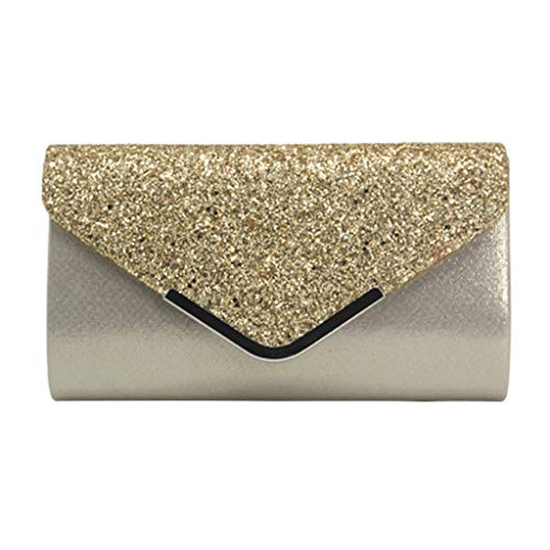 (Shining Rhinestone Studded Wedding Evening Bridal Bridesmaid Clutch Purse-Sequins Leather Bag-Cocktail Party Bag)
